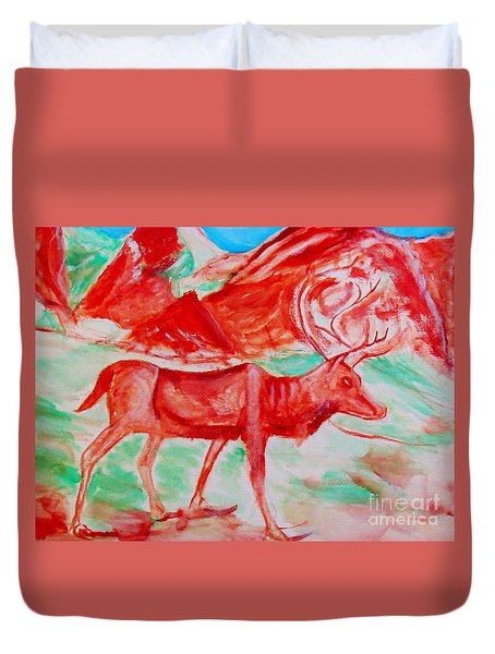 Antelope Save Duvet Cover