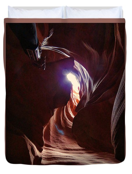Antelope Valley Slot Canyon 2 Duvet Cover