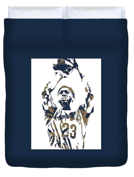Anthony Davis New Orleans Pelicans Pixel Art 7 Duvet Cover