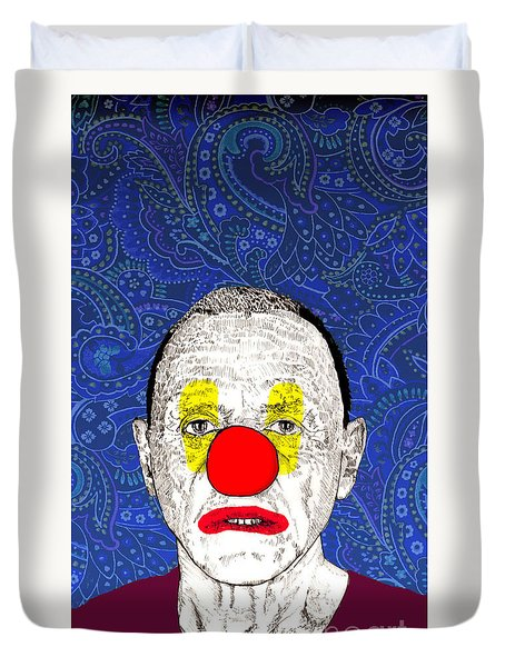 Duvet Cover featuring the drawing Anthony Hopkins by Jason Tricktop Matthews