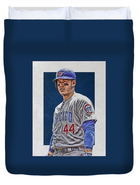 Anthony Rizzo Chicago Cubs 3 Duvet Cover