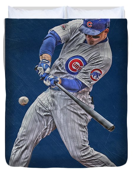 Anthony Rizzo Chicago Cubs Art 1 Duvet Cover