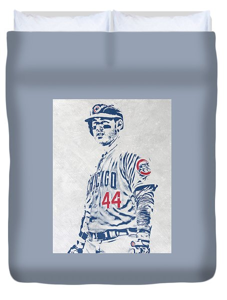 Anthony Rizzo Chicago Cubs Pixel Art Duvet Cover