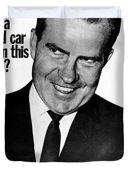 Anti-nixon Poster, 1960 Duvet Cover by Granger