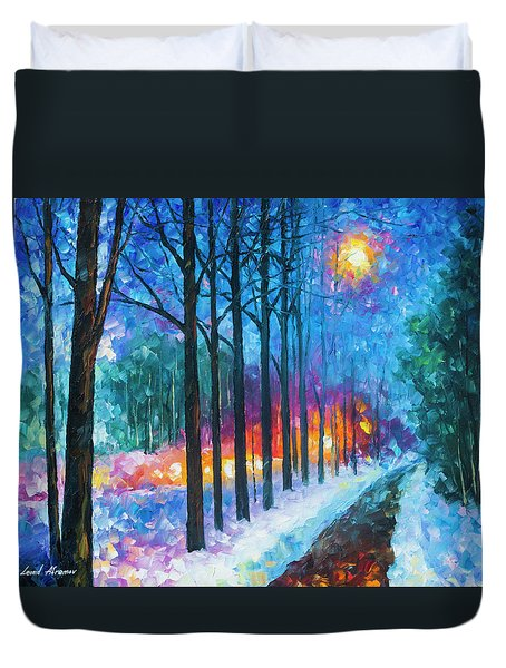 Anticipation Of Spring  Duvet Cover by Leonid Afremov