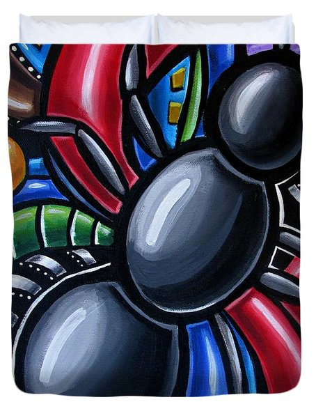 Ant Art Painting Colorful Abstract Artwork - Chromatic Acrylic Painting Duvet Cover