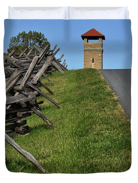 Antietam Battlefield Observation Tower Duvet Cover