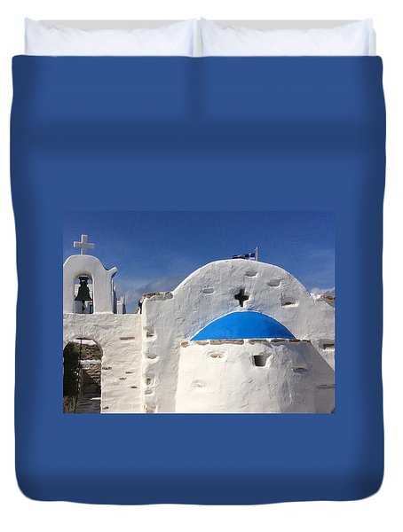 Antiparos Island Greece  Duvet Cover
