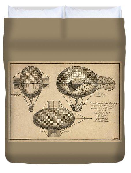 Antique Aeronautics Duvet Cover