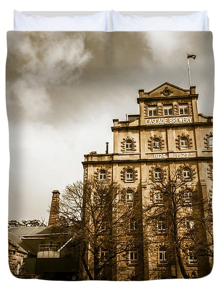 Antique Australia Architecture Duvet Cover