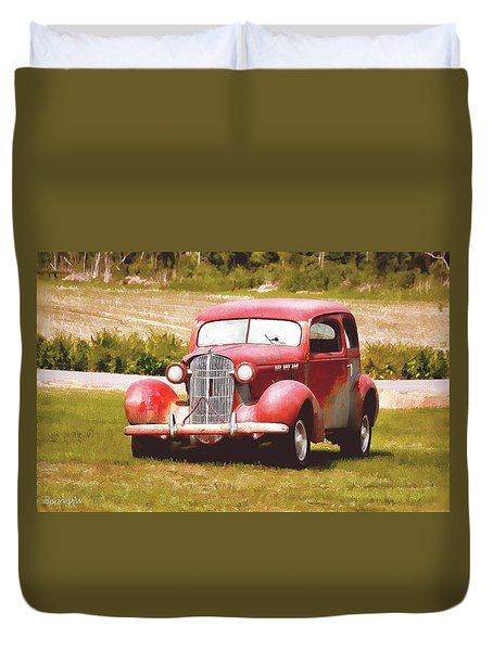 Duvet Cover featuring the photograph Antique Buick by Bonnie Willis