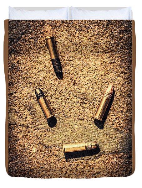 Antique Bullet Art Duvet Cover