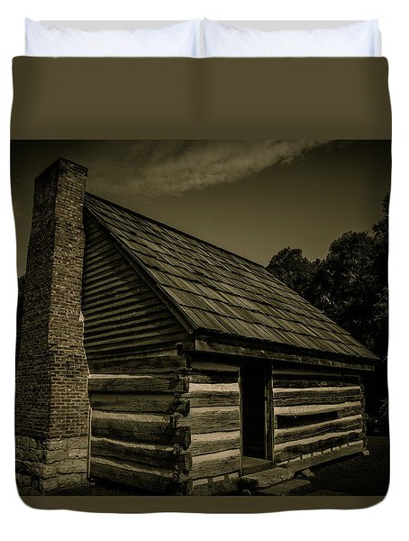 Duvet Cover featuring the photograph Antique Cabin - The Hermitage by James L Bartlett