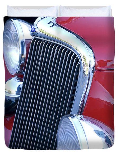 Antique Car Hood Ornament Duvet Cover