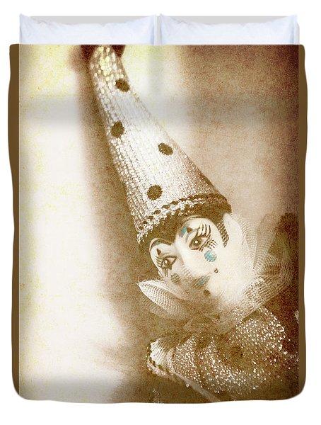 Antique Carnival Doll Duvet Cover