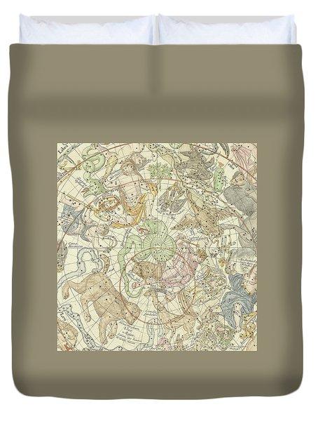 Antique Celestial Map Duvet Cover