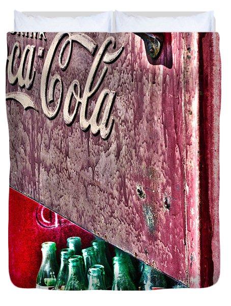 Antique Coca Cola Coke Refrigerator Duvet Cover