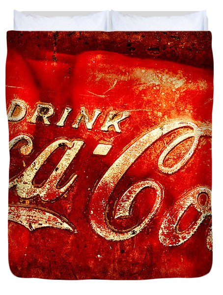 Antique Coca-cola Cooler Duvet Cover