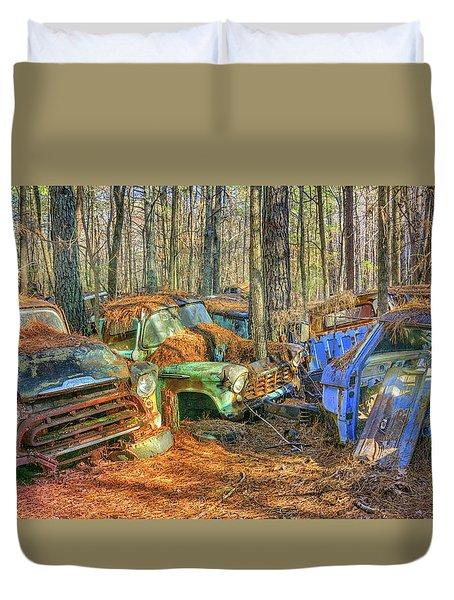 Antique Trucks Duvet Cover
