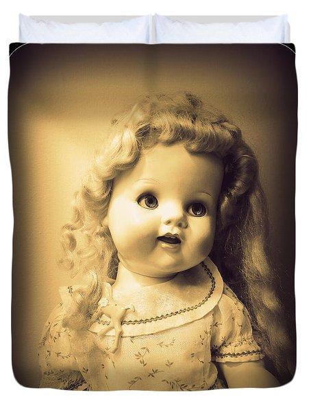Antique Dolly Duvet Cover by Susan Lafleur