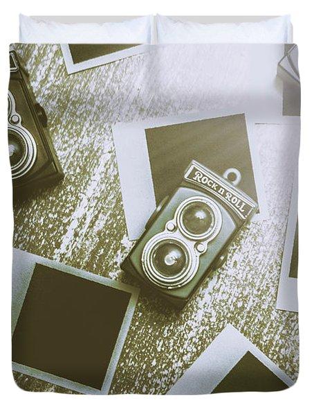 Antique Film Photography Fun Duvet Cover