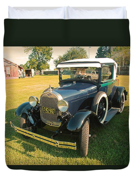 Antique Ford Car Duvet Cover