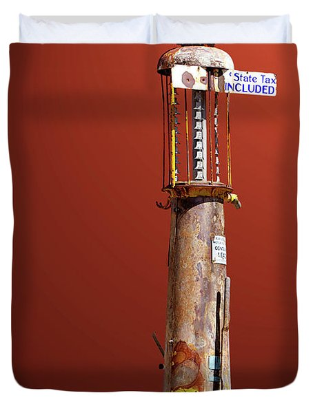 Antique Gas Pump Duvet Cover
