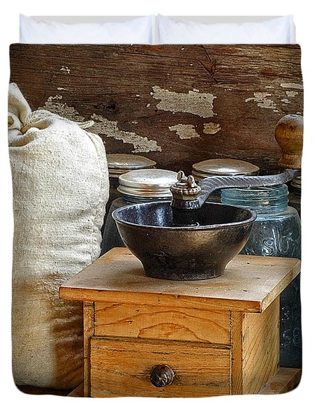 Antique Grinder Duvet Cover