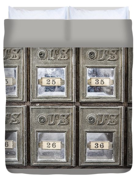 Antique Mailbox Duvet Cover