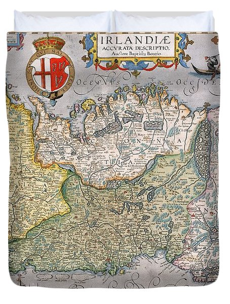 Antique Map Of Ireland Duvet Cover by  English School