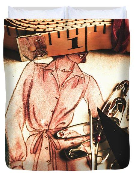 Antique Needlework Duvet Cover