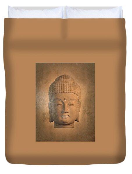 antique oil effect Buddha Korean , Duvet Cover by Terrell Kaucher