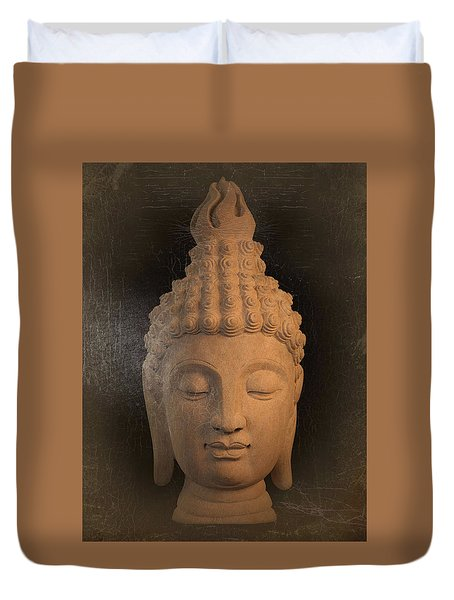 antique oil effect Buddha Sukhothai Duvet Cover by Terrell Kaucher