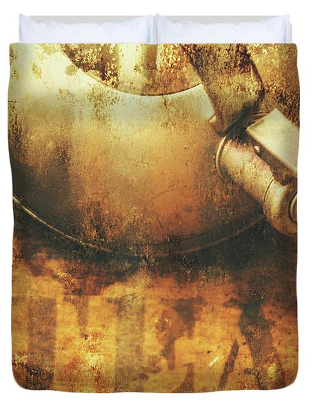 Antique Old Tea Metal Sign. Rusted Drinks Artwork Duvet Cover