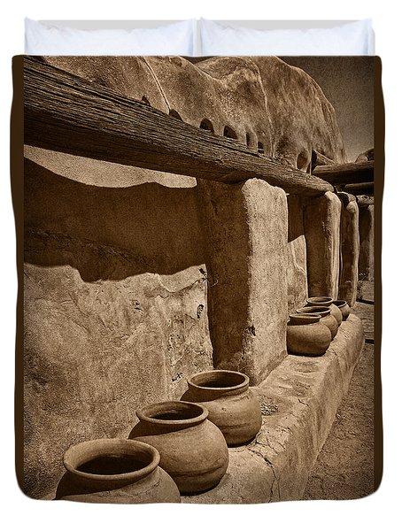 Antique Pots At Mission Tnt Duvet Cover