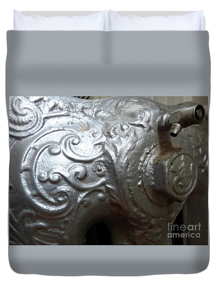 Antique Radiator Close-up Duvet Cover