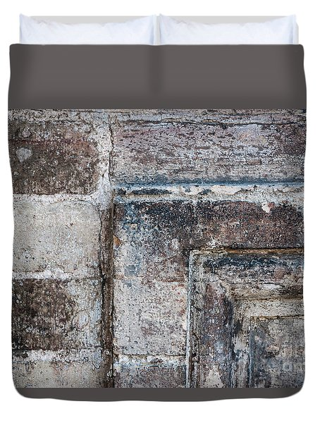 Duvet Cover featuring the photograph Antique Stone Wall Detail by Elena Elisseeva