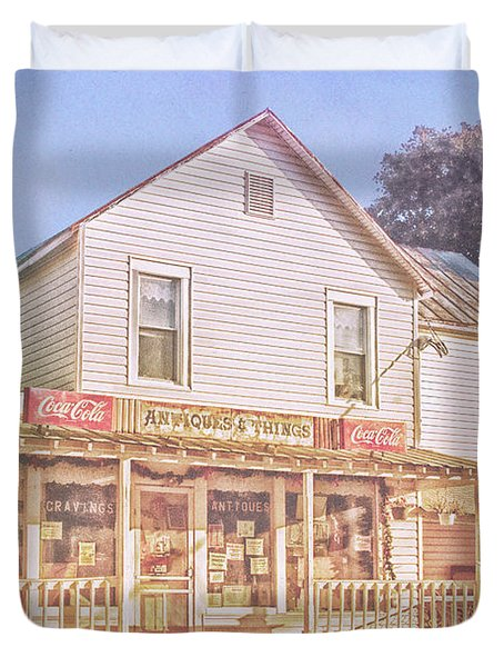 Antique Store, Colonial Beach Virginia Duvet Cover