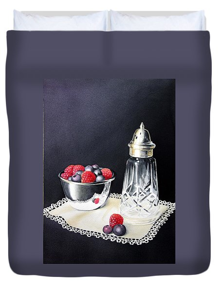 Antique Sugar Shaker Duvet Cover by Brenda Brown