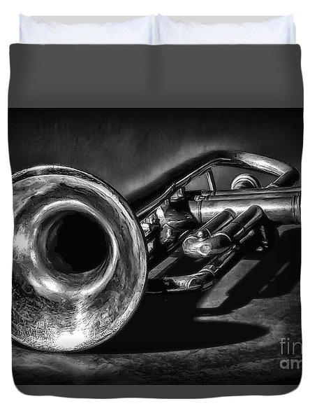 Antique Trumpet 1 Duvet Cover