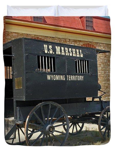 Antique U.s Marshalls Wagon Duvet Cover