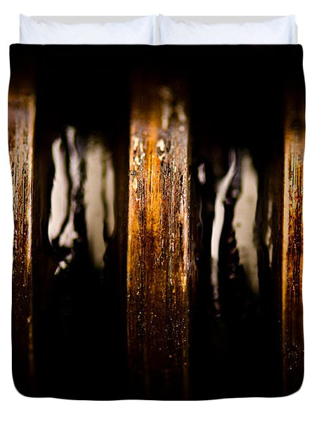 Antique Vise Worm Gear Duvet Cover