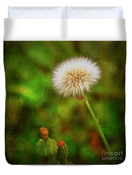 Antiqued Dandelion Duvet Cover