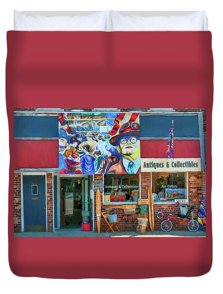 Antiques And Collectibles Duvet Cover