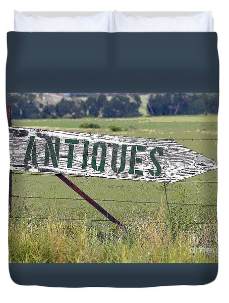 Duvet Cover featuring the photograph Antiques  by Juls Adams