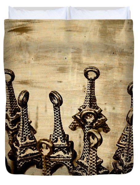 Antiques Of France Duvet Cover