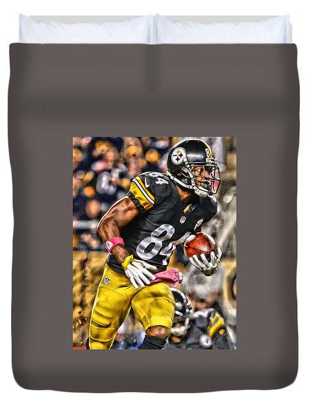 Antonio Brown Steelers Art 2 Duvet Cover