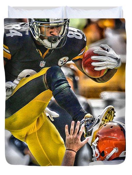 Antonio Brown Steelers Art 5 Duvet Cover