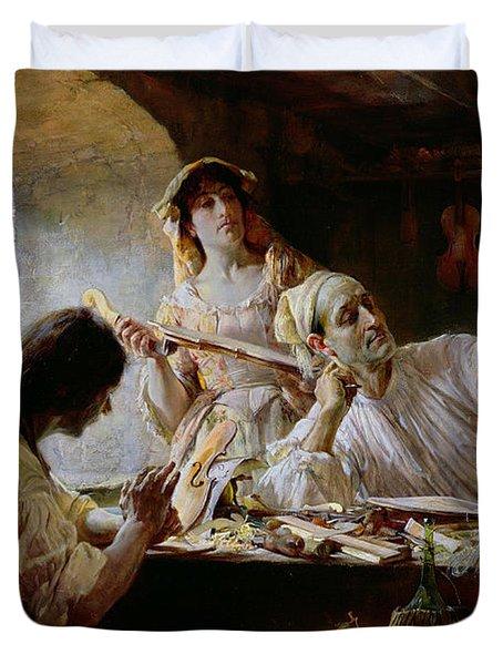 Antonio Stradivari Duvet Cover