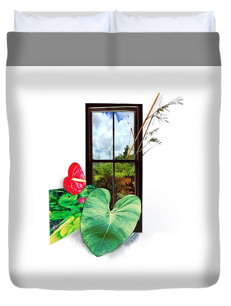 Anthurium 2 Duvet Cover